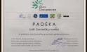 """2013 m. suteikta padėka už dalyvavimą konkurse """"Už darnią plėtrą"""" pristatant projektą."""