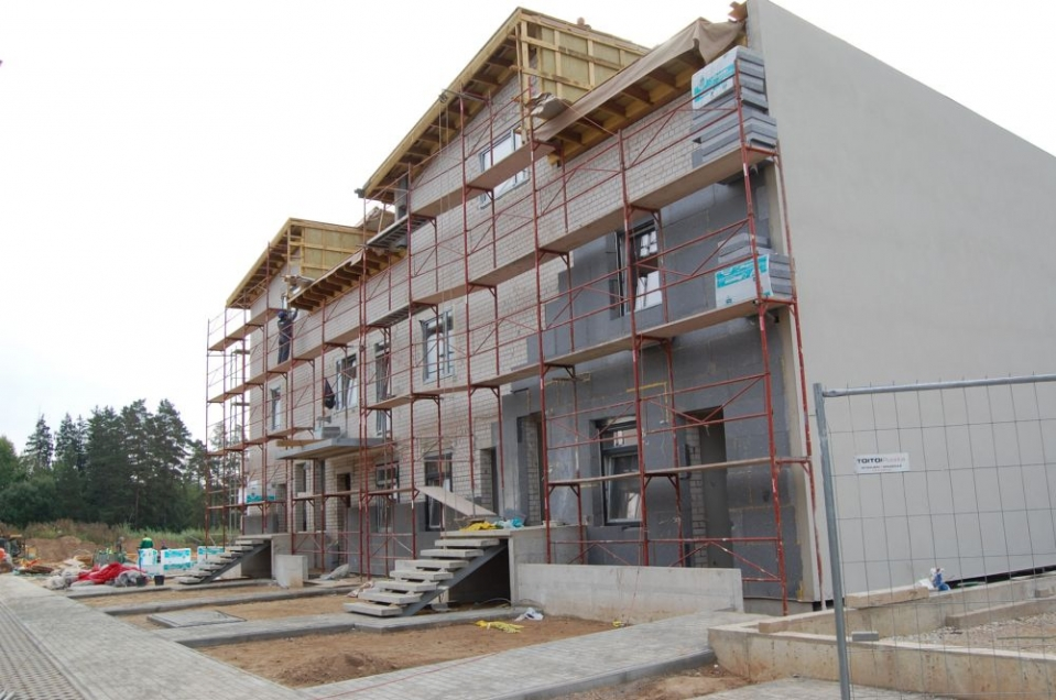 Mėta kotedžų statyba