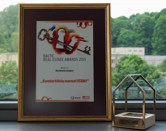 2015 m. geriausias NT projektas Baltijos apdovanojimuose gyvenamosios statybos kategorijoje.